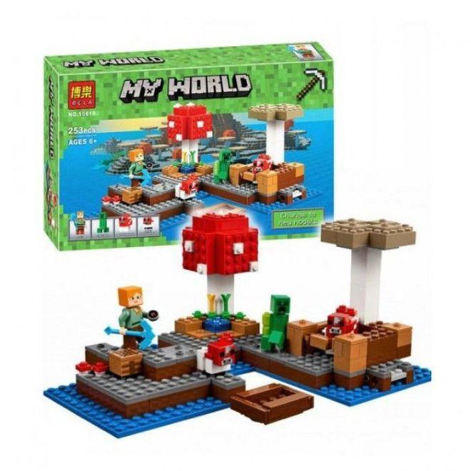 """Конструктор Minecraft Bela 10619 """"Грибной остров"""" 253 дет"""