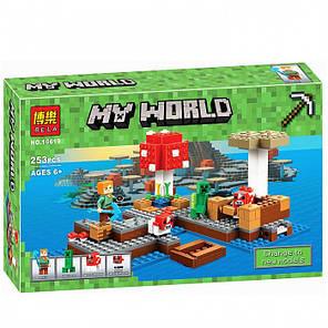 """Конструктор Minecraft Bela 10619 """"Грибной остров"""" 253 дет, фото 2"""