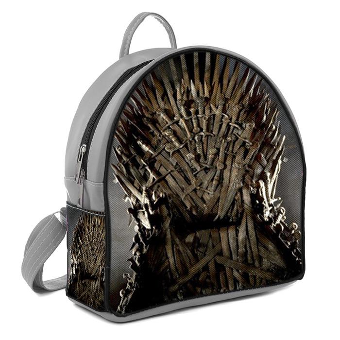 Серый городской рюкзак с принтом Игры Престолов