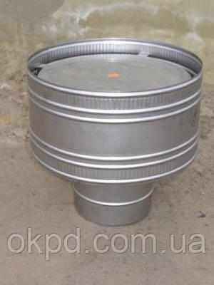 Грибок диаметром 350 для дымохода из нержавеющей стали марки  AISI 304 толщиной 1 мм