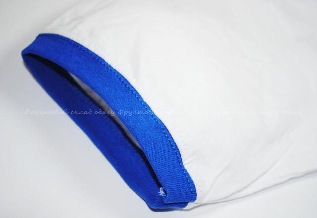 Мужская футболка комбинированная, Белый/Ярко-синий
