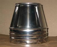 Конус для сенвич дымохода из нержавеющей стали марки  AISI 304 в нержавеющем кожухе диаметром 160/220 толщиной 1 мм