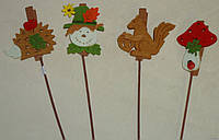 Осенний декор из флизелина (прищепка на шпажке)