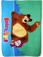 Покрывало для девочек Masha and The Bear оптом, 100*150 см.