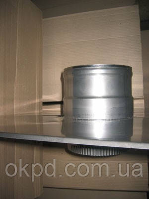 Дека диаметром 120 для дымохода из нержавеющей стали марки  AISI 304