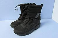 Ботинки зимние Найк 5019-1 черные код 0797А