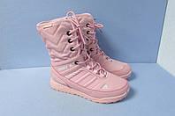 Высокие кроссовки зимние Adidas 5003-8 розовые код 0788А
