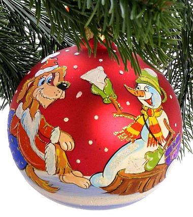 "Стеклянный шар на елку ""Символ года"" 100422, фото 2"