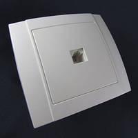 Розетка телефонная  внутренняя одинарная АВаТар 1-я белая ST 49-1