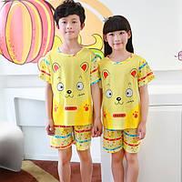Пижама трикотаж с коротким рукавом и шертами унисекс