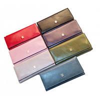 Кожаные женские кошельки на магните 19*9 (7 цветов)