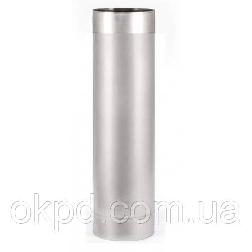 Труба диаметром 200 для дымохода из нержавеющей стали марки  AISI 321 толщиной 0,8 мм длинной 1 метр