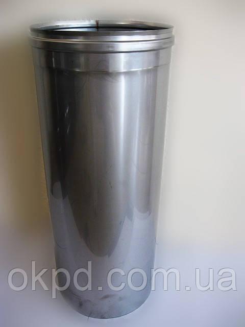 Труба диаметром 150 для дымохода из нержавеющей стали марки  AISI 321 толщиной 0,8 мм длинной 0,5 метра