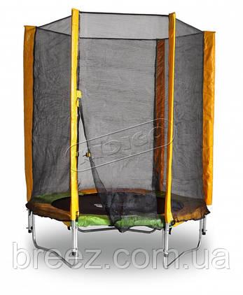 Батут KIDIGO 140 см. с защитной сеткой, фото 2