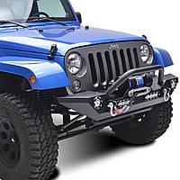 Передний бампер силовой тюнинг с диодами Jeep Wrangler JK