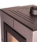 Отопительная печь-камин длительного горения FLAMINGO EVENES (серый), фото 2