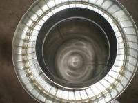 Труба диаметром 350/420 для дымохода из нержавеющей стали марки  AISI321 в нержавеющем кожухе толщиной 1 мм длинной 0,3 метра