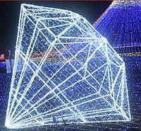 Новогодняя уличная гирлянда  светодиодная с программным пультом управления (дистанционным) трубка 15 см 9 ламп