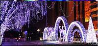 Новогодняя гирлянда  светодиодная уличная с программным пультом управления дистанционным 1М\ПОГ. 60 ЛАМП