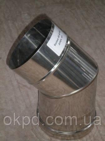 Труба диаметром 110/180 для дымохода из нержавеющей стали марки  AISI 321 в оцинкованном кожухе толщиной 1 мм длинной 0,5 метра