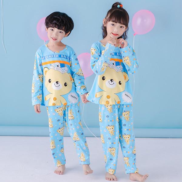 Пижама трикотаж с длинным рукавом и штанами унисекс
