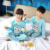 Пижама трикотаж с длинным рукавом и штанами унисекс, фото 3