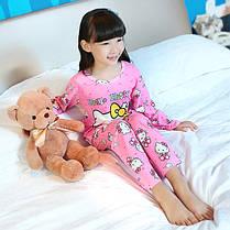 Пижама для девочки трикотаж с длинным рукавом , фото 3
