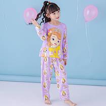 Пижама для девочки трикотаж с длинным рукавом , фото 2