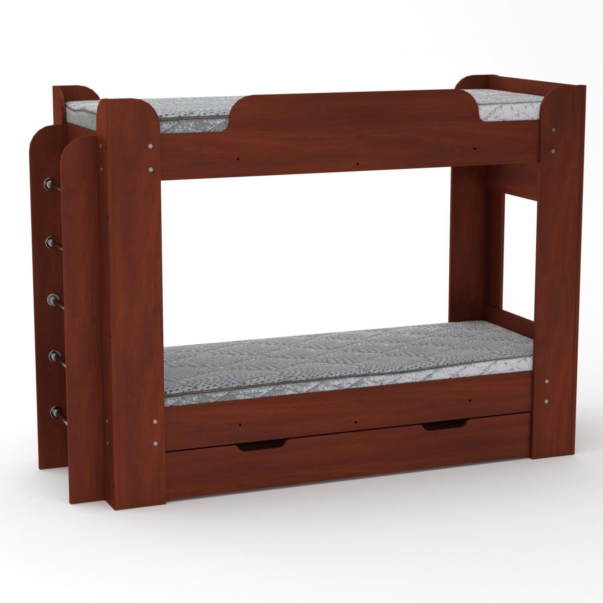Кровать с матрасами двухъярусная Твикс яблоня Компанит