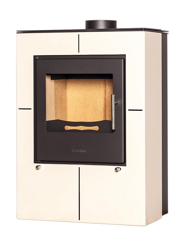 Отопительная печь-камин длительного горения FLAMINGO EVENES (кремовый)