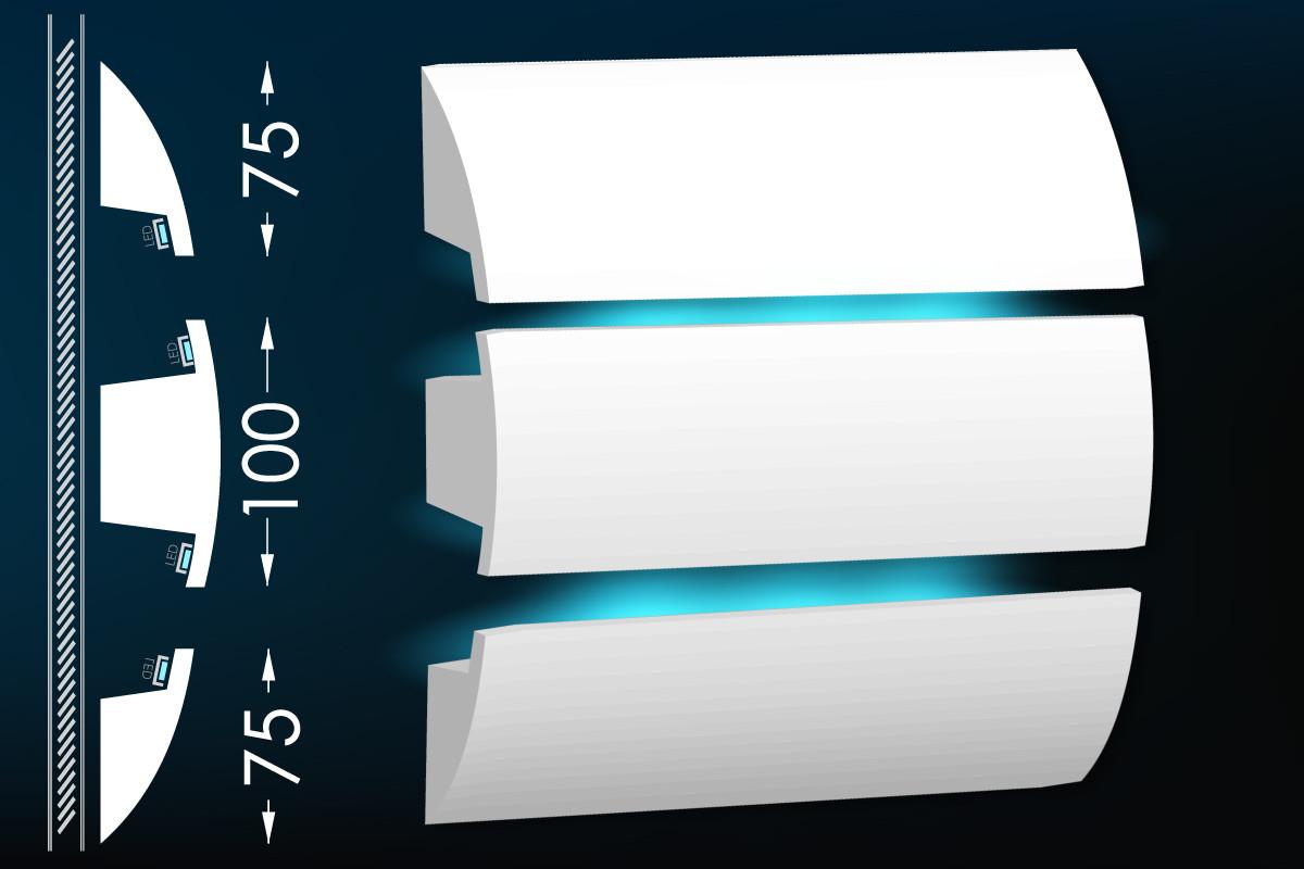 Карниз для прихованого освітлення Мс-23