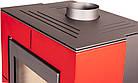 Отопительная печь-камин длительного горения FLAMINGO EVENES (красный), фото 3