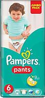 Трусики PAMPERS Pants 6 Junior (16+ кг) 44шт.