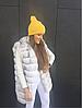 Желтая шапка-резинка