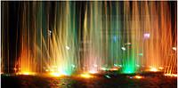Новогодняя гирлянда  светодиодная уличная с программным пультом управления (дистанционным) трубка 15 см 9 ламп