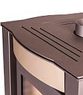 Отопительная печь-камин длительного горения FLAMINGO AMOS (кремовый металлик), фото 3