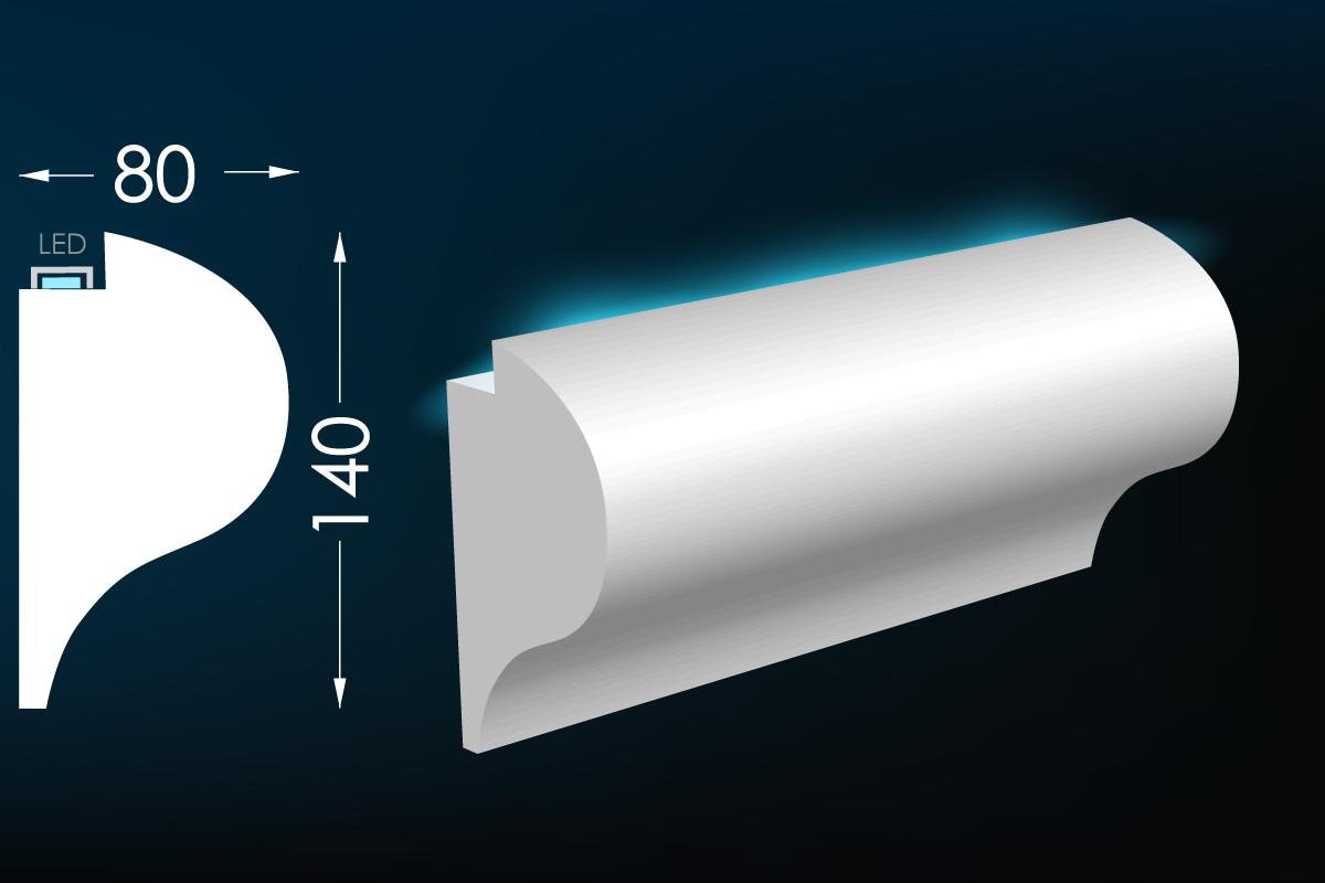 Карниз для скрытого освещения Тс-26