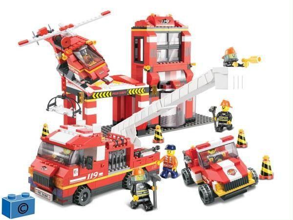 Конструктор SLUBAN арт.M38-B0227 «Пожарные спасатели» 727 деталей