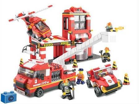 Конструктор SLUBAN арт.M38-B0227 «Пожарные спасатели» 727 деталей, фото 2