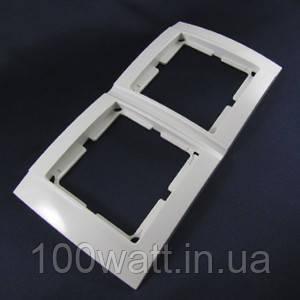 Рамка двойная горизонтальная Аватар 2-я белая ST 522