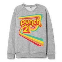 Свитшот теплый Punch 70s Vibes Grey