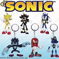 """Брелки-фигурки Соник - """"SonicX Keychain"""" - 6  шт."""