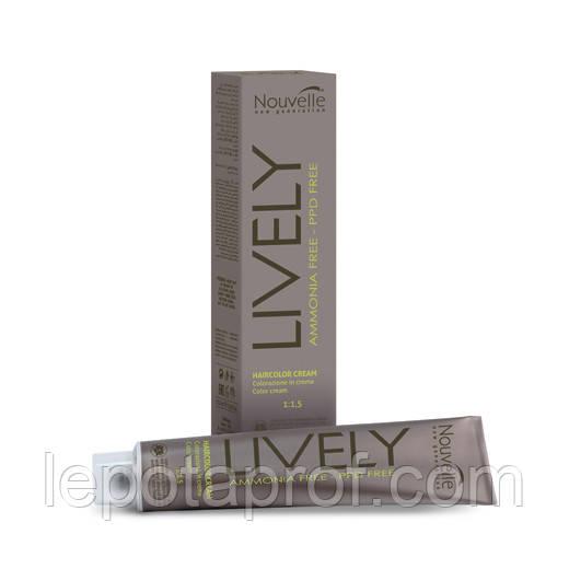 Крем-краска для волос без аммиака Nouvelle Lively Hair Color, 100 ml
