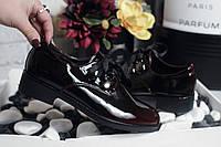 Туфли на шнуровке Материал :эко лак