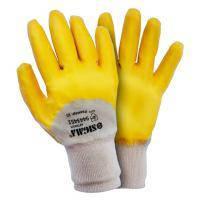 Перчатки трикотажные с нитриловым покрытием (желтые) Sigma (9443441)