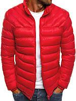 Цветная мужская зимняя стёганая куртка без капюшона №3