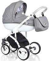 Детская коляска универсальная  2в1 Roan Bass Soft Denim Grey White (Роан Басс, Польша)