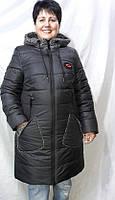 Женская зимняя удлиненная куртка,холлофайбер