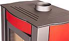 Отопительная печь-камин длительного горения FLAMINGO AMOS (красный), фото 4