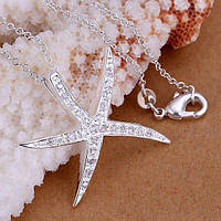 Кулон Морская звезда стерлинговое серебро